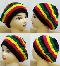 Cool Jamaican Womens Warm Baggy Beanie Knit Crochet Hats Oversized Caps