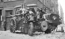 New York City Truck mounted Steam Fire pumper early 1910s Vintage photo print