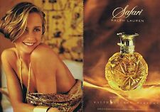 "PUBLICITE ADVERTISING 025 1992 RALPH LAUREN parfum ""Safari"" (2 pages)"
