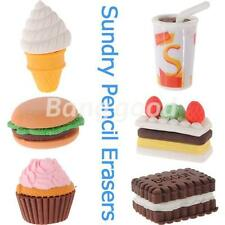Novelty Cute Pencil Rubber Eraser Erasers Stationery Ice Cream Cake Kid Fun Toy