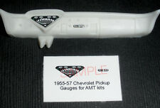1955 - 1957 CHEVROLET STEPSIDE AND CAMEO PICKUP GAUGE FACES! -1/25 scale-for AMT