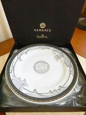 Versace Rosenthal ARABESQUE ICE Canape Bread Dessert Plates Set / 4 - NEW / BOX!