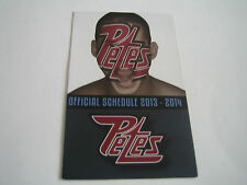 2013/14 OHL PETERBOROUGH PETES POCKET SCHEDULE
