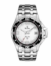 Bulova Men's 98B162 Marine Star Quartz White Dial Stainless Steel Watch
