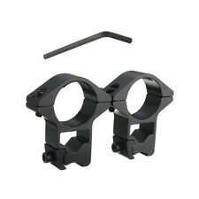 2x 11mm Dovetail Weaver Rail Mount Tactical High Profile 25mm Scope Mount Rings
