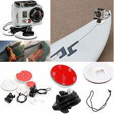 Pro Surfboard Surfing Accessories Mount Kits for GoPro 2 3 3+ 4 Xiaomi Yi SJ4000