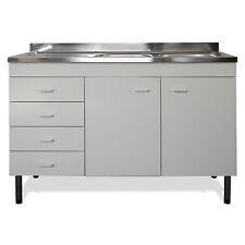 Mobile con lavello in acciaio inox per cucina bianco gocciolatoio sinistro promo