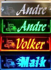 Trucker camiones placa de nombre, LED iluminado, Super efecto, 12v-24v, sin deslumbramiento