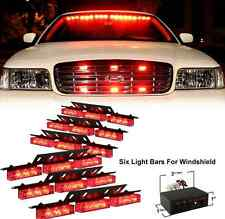 Red Lights LED Emergency Vehicle Grill Warning Police Officer Cops Fire Fighters