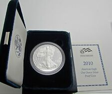 US  Silver Proof Eagle 2010 Original Goverment Packaging Box