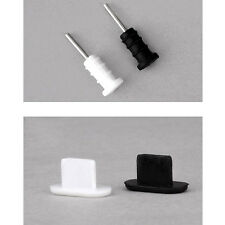 Black + White Silicone Anti Dust Cap Earphone Plug Stopper For iPhone 5 5S 5C