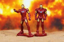 MARVEL SUPERHEROS IRON MAN Mark 3 & 4 AVENGERS FIGURE CAKE TOPPER Set A594_A595