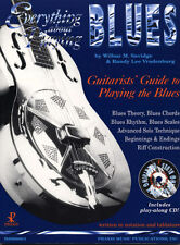 Everything About Playing The Blues Learn to Play Guitar Music Book & CD