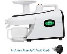 Green Star Elite PLUS FREE Soft Fruit Knob  ~ Model GSE-5000 Twin Gear Juicer
