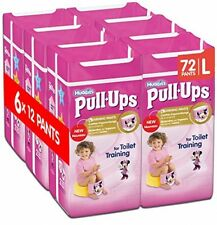 Huggies Pull-Ups Girls Day Time Pants Convenience Pack, Large - 6 Packs (12 Per