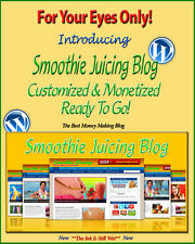 Smoothie Juicing Blog Self Updating Website Clickbank Amazon Adsense Affiliates*