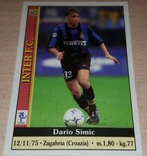CARD CALCIATORI MUNDI CRONO 2001 INTER SIMIC CALCIO FOOTBALL SOCCER ALBUM