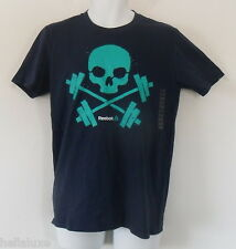 NWT~Reebok BARBELL SKULL TEE one Running Cross Training Gym fit Shirt~Men sz Med