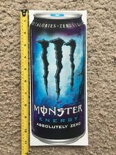 "Monster Energy Absolutely Zero Logo Can 11"" Sticker Decal Sponsor Sheet Kit"