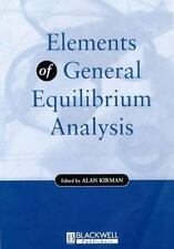 Elements of General Equilibrium Analysis-ExLibrary