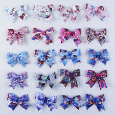 20Pcs 3inch Handmade Frozen Baby Girls Hair Bows princess Accessories 2814-K