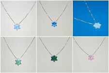 WHOLESALE LOTS Opal Star of David Sterling Silver Chains Blue Green White Pink