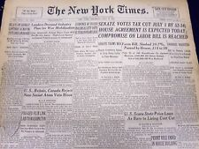 1947 MAY 29 NEW YORK TIMES - SENATE VOTES TAX CUT JULY 1 BY 52-34 - NT 88