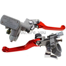 Red Master Cylinder Reservoir Hydraulic Brake Clutch Levers Honda CRF250R 04-12