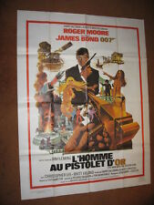 """MAN WITH THE GOLDEN GUN (1985) - James Bond 007 FRENCH Poster 47"""" x 63"""" NM (C9)"""