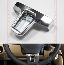 FOR VW PASSAT B7 2012 2013 TIGUAN TOURAN STEERING WHEEL CHROME INSERT COVER TRIM