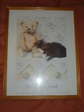 """TEDDY BEAR PICTURE - DELYTH LLOYD - An Afternoon nap - 12"""" By 15"""" Inches"""