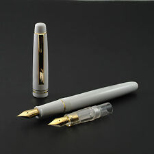 2016 Fresh Model Wing Sung 659 White Fountain Pen With 2 Nibs With Plastic Box