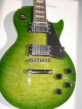 New Full Size 6 String  Electric Guitar LP  GREEN With Padded Gig Bag