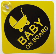 BABY ON BOARD CHILD SAFETY WITH SUCTION CUPS CAR VEHICLE SIGNS CHILD ON BOARD UK