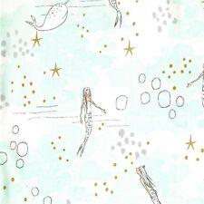 Fat Quarter Mermaid Magic Mist 100% Cotton Quilting Fabric Michael Miller