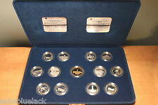 1992 - 125th Anniversary of Canada 25 Cent 13 Coin Silver Proof Set - Box