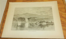 1874 Antique Print/FALLS OF THE MONTMORENCY RIVER, QUEBEC, CANADA