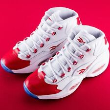 NEW size 14 Reebok Iverson Mid Question Answer Mid Retro 79757 White Red
