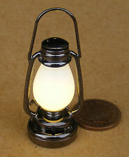 1:12 Working LED Antique Victorian Battery Oil Lamp Dolls House Miniature Light