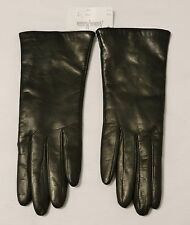 Neiman Marcus Long Espresso Leather/Cashmere Lined Ladies Gloves Size 7, Italy