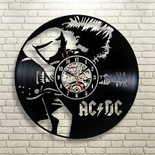 AC DC_Exclusive wall clock made of vinyl record_GIFT