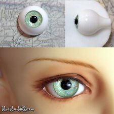 14mm Glitter light green full eyeball acrylic bjd doll eyes dollfie AE-44