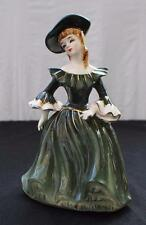 "Vintage NAPCO Japan Porcelain LADY ANN Green Dress 8 1/2""h Planter A1875A"
