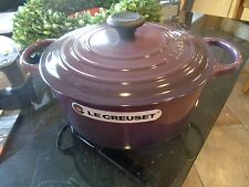 Williams Sonoma Le Creuset Signature 5 1/2 quart dutch oven eggplant purple