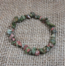 Unakite Chip Bracelet - Stretch - Fast Free US Shipping