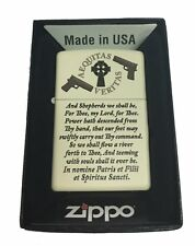 Zippo Custom Lighter  Aequitas Veritas Shepherd Family Prayer Cream Matte New