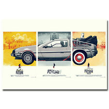 Back To The Future 1 2 3 Movie Art Silk Poster 13x20 inch Wall Decoration