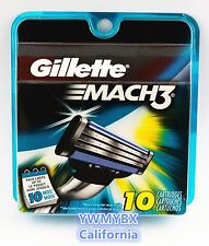 GILLETTE MACH3 Razor Blades,10 Cartridges,Original package, #M004A