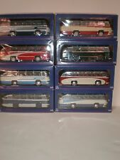 1/43  Set of eight LAZ buses (LAZ-695 & LAZ-695B) made by Ultra models