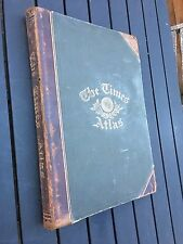 1895 THE TIMES ATLAS 173 WORLD MAPS ON 117 SHEETS ORIGINAL ANTIQUE 122 YEARS OLD